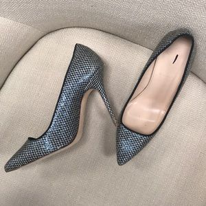Blue Glitter J.Crew Pumps